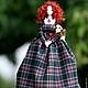 Текстильная кукла  тряпиенса Шотландка. Тряпиенс . Тряпиенсы . Корейская кукла. Кукла в интерьере. Лена+Вика=Орпики на Ярмарке Мастеров