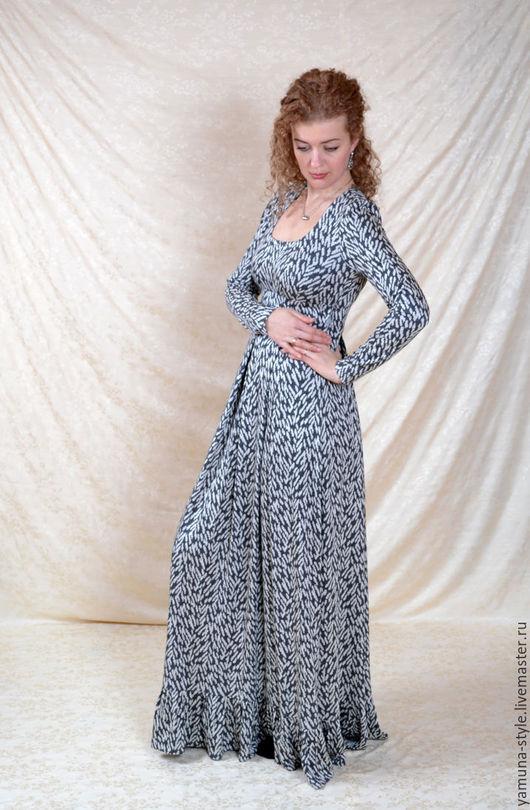 Платья ручной работы. Ярмарка Мастеров - ручная работа. Купить Весеннее серое платье. Handmade. Платье, платье на каждый день