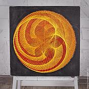 """Картины и панно ручной работы. Ярмарка Мастеров - ручная работа """"Лотос"""" в стиле стринг арт. Handmade."""