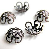 Материалы для творчества handmade. Livemaster - original item Bead caps filigree brass and bronze. Handmade.