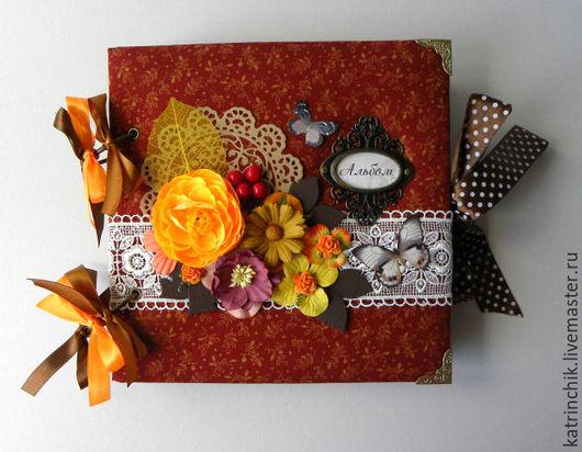 Персональные подарки ручной работы. Ярмарка Мастеров - ручная работа. Купить Семейный альбом для бабушки. Handmade. Бордовый, осенние листья