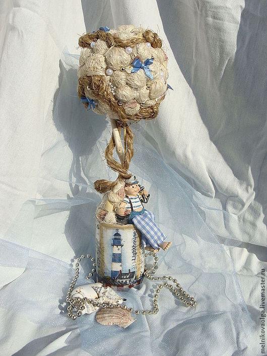 """Топиарии ручной работы. Ярмарка Мастеров - ручная работа. Купить Топиарий """"На берегу моря"""". Handmade. Топиарий, интерьерное деревце"""