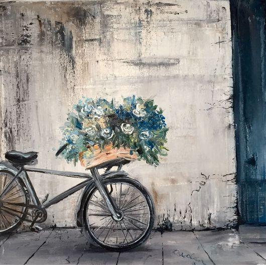 Город ручной работы. Ярмарка Мастеров - ручная работа. Купить Улица. Handmade. Париж, Франция, улица, велосипед, любовь, стиль