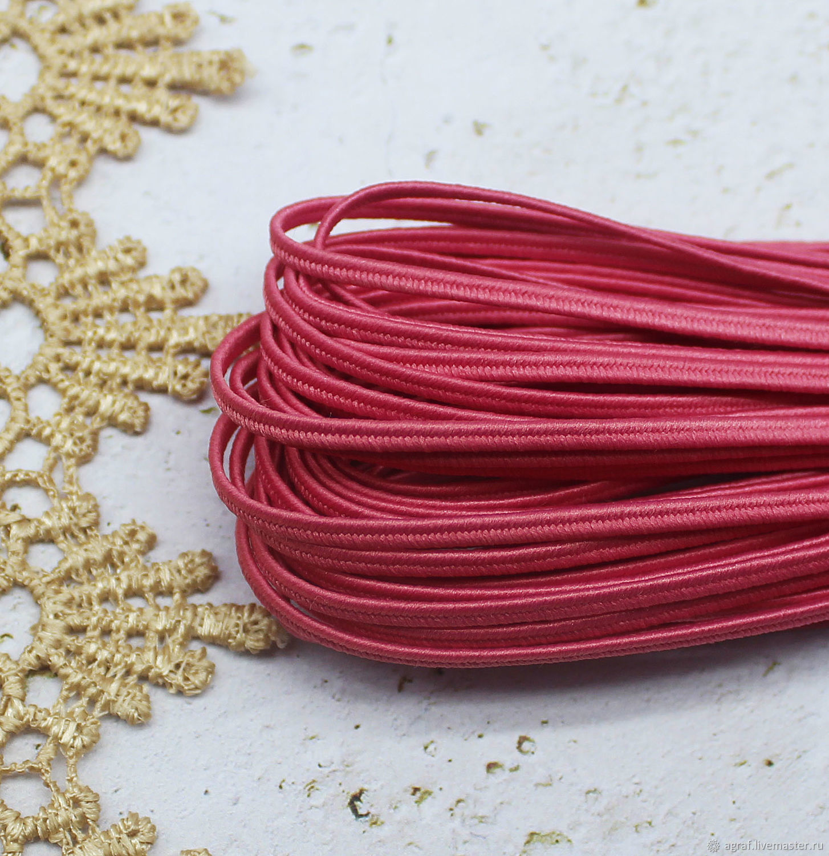 Сутаж белорусский 2,5 мм Ярко-розовый 1 метр, Шнуры, Соликамск,  Фото №1