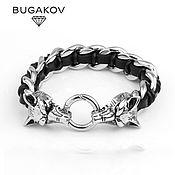 Украшения handmade. Livemaster - original item Bracelet jewelry began with wolves skin. Handmade.