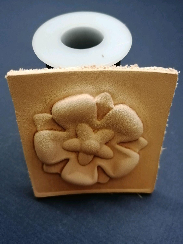 Нашивка - цветок из формованой кожи, Нашивки, Новосибирск,  Фото №1