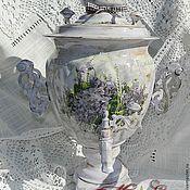 """Для дома и интерьера ручной работы. Ярмарка Мастеров - ручная работа Самовар """"Фиалки"""". Handmade."""