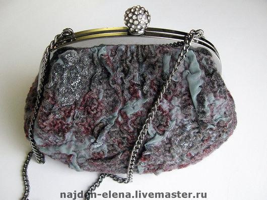 Женские сумки ручной работы. Ярмарка Мастеров - ручная работа. Купить вечерняя сумочка. Handmade. Сумка, оливковый, бархат