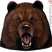 """Для дома и интерьера ручной работы. Ярмарка Мастеров - ручная работа Шапка для бани """"Медведь бурый"""". Handmade."""