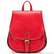 Сумки и аксессуары handmade. Livemaster - original item Leather backpack the Herald (red). Handmade.