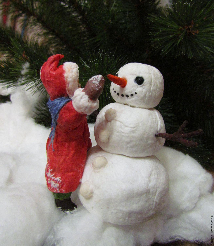 """""""Зимние забавы"""" - елочная игрушка из ваты, Куклы и пупсы, Москва,  Фото №1"""