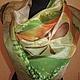 Batik scarf 'Ah, Apple!' 90 x 90 cm. Shawls1. RigaBatik (rigabatik). Online shopping on My Livemaster.  Фото №2