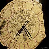 """Для дома и интерьера ручной работы. Ярмарка Мастеров - ручная работа Часы большие """"Золотое древо"""". Handmade."""