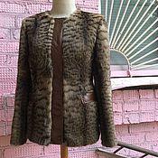 Одежда ручной работы. Ярмарка Мастеров - ручная работа Жакет из меха и кожи со съёмным воротником. Handmade.