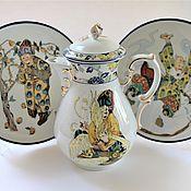 Посуда handmade. Livemaster - original item Work on the order. Fabulous tea party.. Handmade.