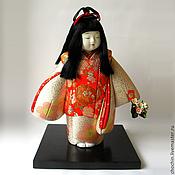 Куклы и пупсы ручной работы. Ярмарка Мастеров - ручная работа Среди цветов - коллекционная японская кукла kimekomi кимекоми кимэкоми. Handmade.