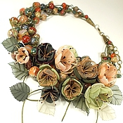 Украшения handmade. Livemaster - original item Waltz Of The Morning Garden. Necklace, handmade flowers. Handmade.