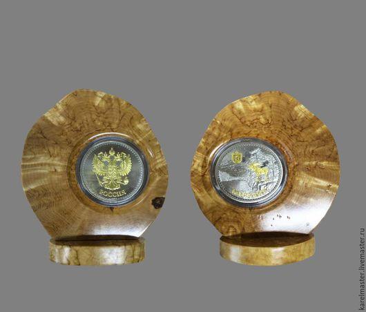 Подарки для мужчин, ручной работы. Ярмарка Мастеров - ручная работа. Купить Монета сувенирная на подставке. Handmade. Памятный подарок