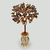 Цветы и флористика handmade. Livemaster - original item Tiger`s eye tree with mother-of-pearl