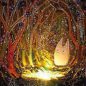 """Для дома и интерьера ручной работы. Ярмарка Мастеров - ручная работа Фонарик """"Тоторо"""". Handmade."""