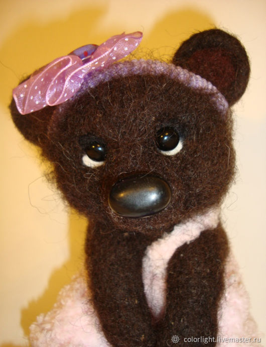 The toy is made of wool Bear, Felted Toy, Zelenograd,  Фото №1