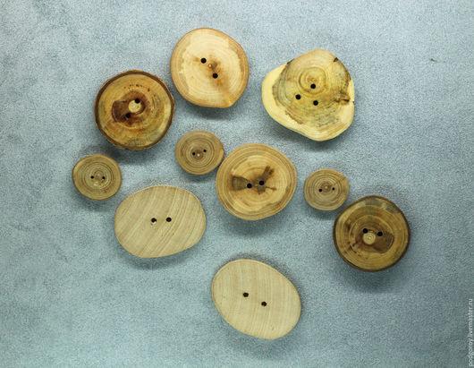 Шитье ручной работы. Ярмарка Мастеров - ручная работа. Купить Декоративные деревянные пуговицы, натуральное дерево. Handmade. Коричневый