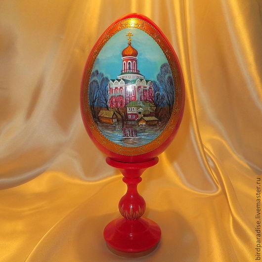 пасхальное яйцо с миниатюрой,большое.
