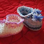Работы для детей, ручной работы. Ярмарка Мастеров - ручная работа Пинетки малышу. Handmade.