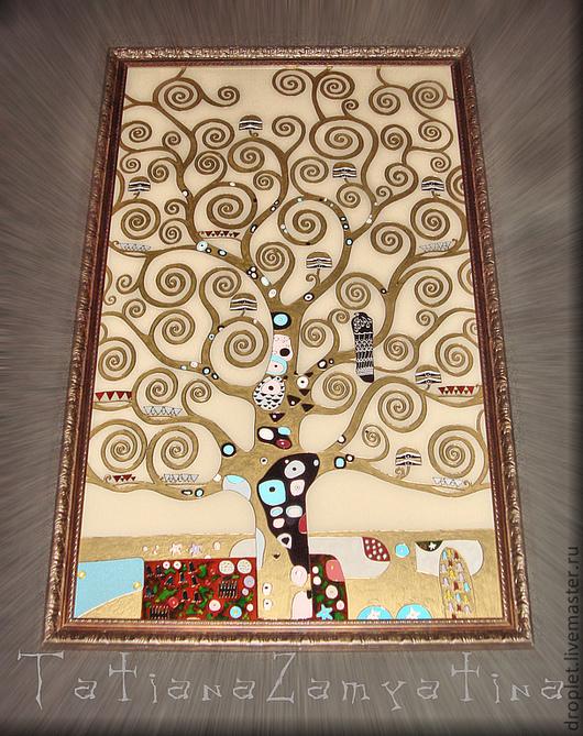 """Репродукции ручной работы. Ярмарка Мастеров - ручная работа. Купить Фрагмент картины Г.Климта """"Древо жизни"""". Handmade."""