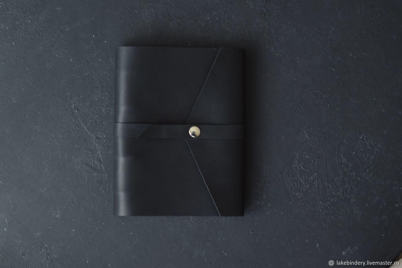 Кожаный блокнот на магнитной кнопке из натуральной кожи Crazy Horse, Блокноты, Москва,  Фото №1