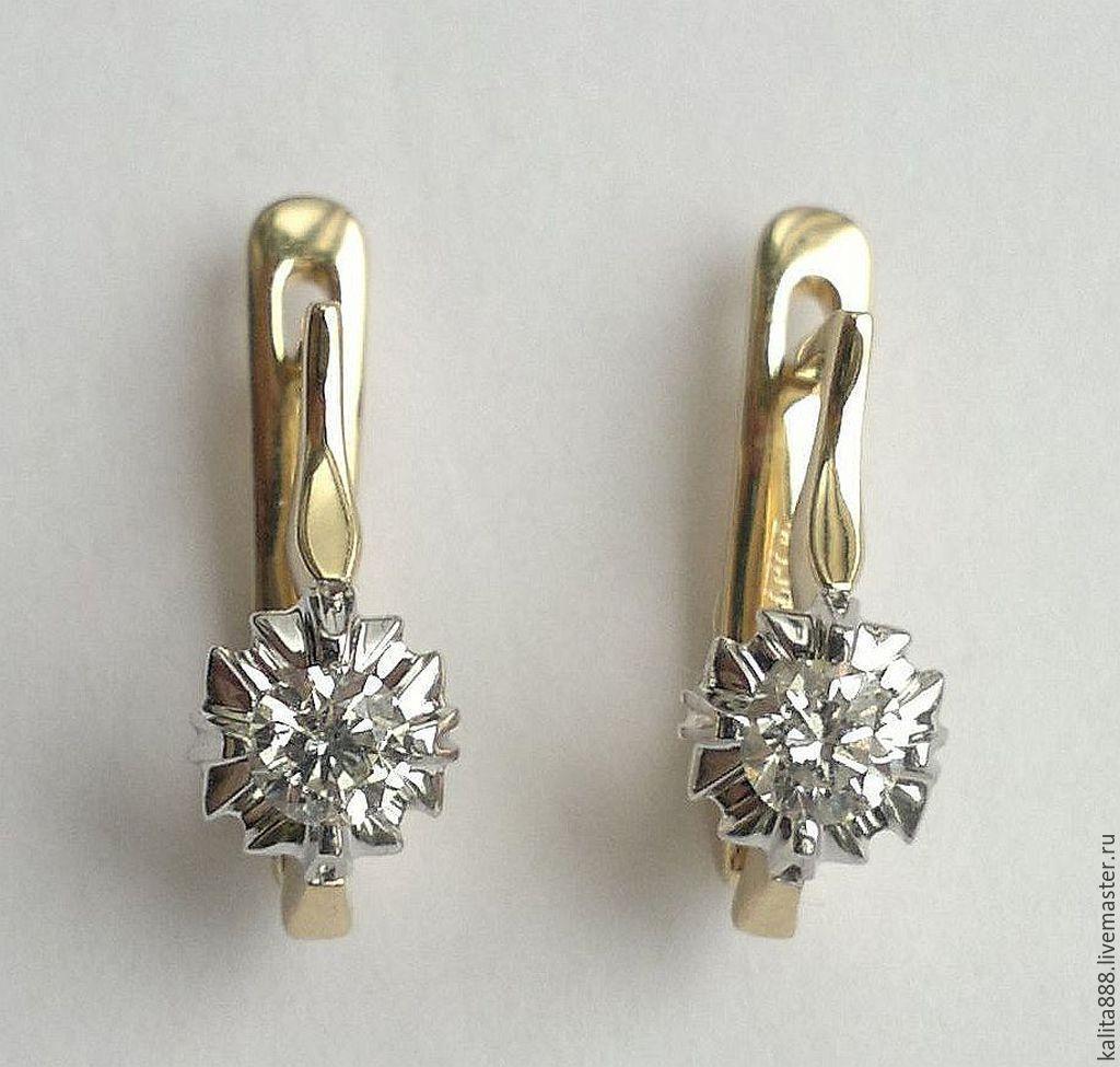 сережки фото с бриллиантами