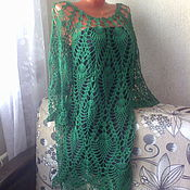 Одежда handmade. Livemaster - original item fishnet tunic dress handmade crochet