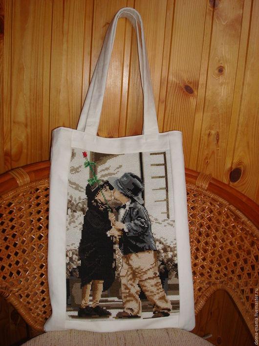 Женские сумки ручной работы. Ярмарка Мастеров - ручная работа. Купить Сумка с вышивкой крестом. Handmade. Текстильная сумка, вышивка