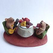 Куклы и игрушки handmade. Livemaster - original item Come to me, Glafira! Mouse. Ceramics, Figurines.. Handmade.