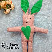 Куклы и игрушки ручной работы. Ярмарка Мастеров - ручная работа Зайка изо льна. Handmade.