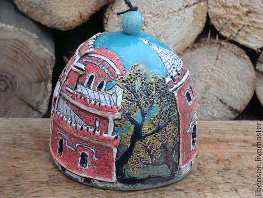 Элементы интерьера ручной работы. Ярмарка Мастеров - ручная работа. Купить Колокольчик Рамонский замок. Handmade. Керамика, глина