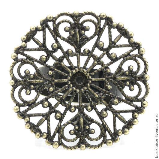 Основа для кольца регулируемая `Античная бронза`