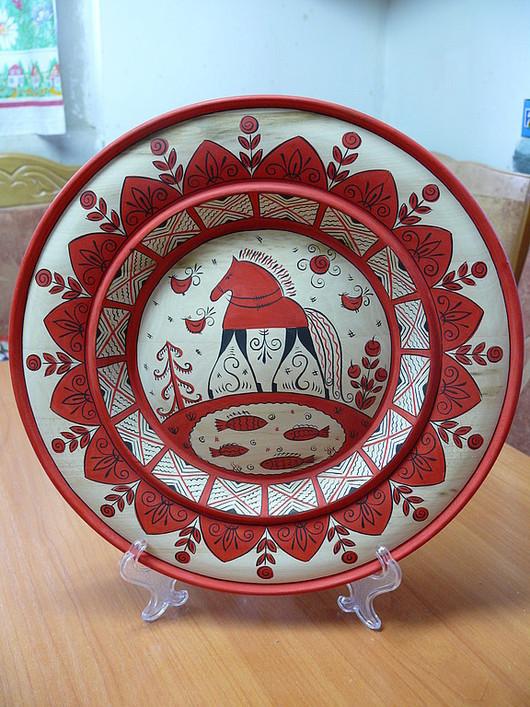 Декоративная посуда ручной работы. Ярмарка Мастеров - ручная работа. Купить Блюдо расписное. Handmade. Роспись, народная роспись