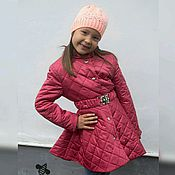 Работы для детей, ручной работы. Ярмарка Мастеров - ручная работа Стеганное пальто для девочки. Handmade.