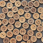 Материалы для творчества ручной работы. Ярмарка Мастеров - ручная работа Пуговицы деревянные (кокос) 17 мм. Handmade.