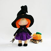 """Куклы и игрушки ручной работы. Ярмарка Мастеров - ручная работа Интерьерная кукла """"Ведьмочка"""" (17 см). Handmade."""