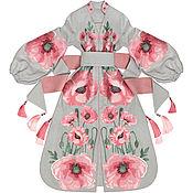 "Одежда handmade. Livemaster - original item Long light gray dress ""Poppy Desire"". Handmade."