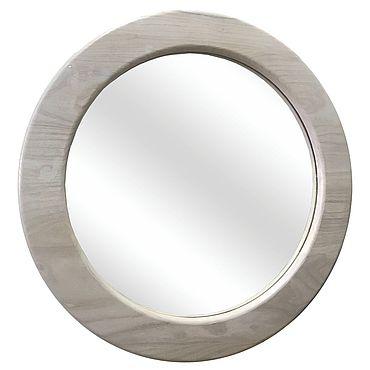Для дома и интерьера ручной работы. Ярмарка Мастеров - ручная работа Круглое зеркало из карагача. Handmade.
