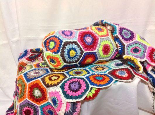 Текстиль, ковры ручной работы. Ярмарка Мастеров - ручная работа. Купить Подушка валик. Handmade. Разноцветный, подушка крючком
