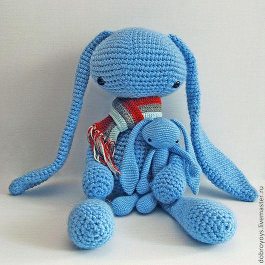 Игрушки животные, ручной работы. Ярмарка Мастеров - ручная работа. Купить Заяц инопланетный гигантский (голубой). Handmade. Голубой, амигуруми
