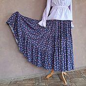 Одежда handmade. Livemaster - original item Tiered skirt from the rose staple on gray-purple. Handmade.