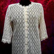 """Одежда ручной работы. Ярмарка Мастеров - ручная работа 100%лён.Ажурный жакет""""Льняное чудо"""". Handmade."""