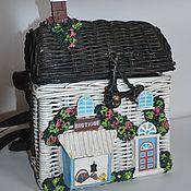 Сумки винтажные ручной работы. Ярмарка Мастеров - ручная работа Сумка домик из дерева лозы. Handmade.