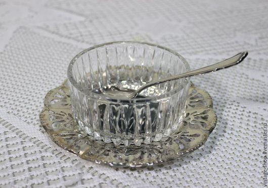 Винтажная посуда. Ярмарка Мастеров - ручная работа. Купить Посеребренный набор для икры, винтаж, Германия. Handmade. Серебряный, подносик, для хозяйки
