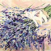 Картины и панно handmade. Livemaster - original item Oil painting on canvas. Bouquet of lavender.. Handmade.